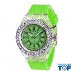 Ceas Dama Verde Neon cu lumini Geneva CDGV015