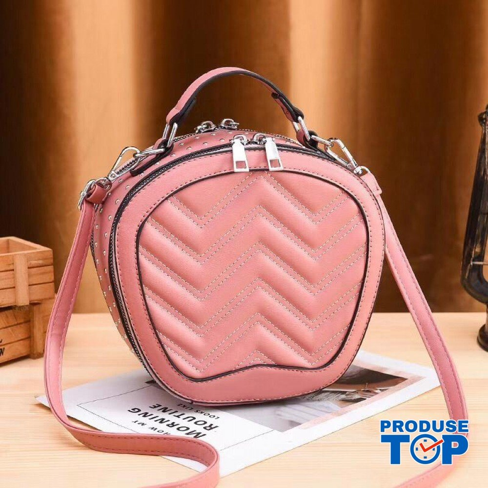 Geanta eleganta din piele eco roz Ariana ACGD018-pink