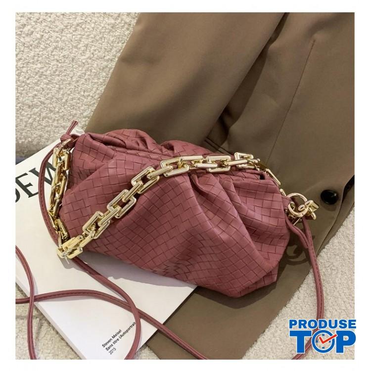 Geanta pink fashion din piele eco bareta din lant gros Trendy  ACGD212