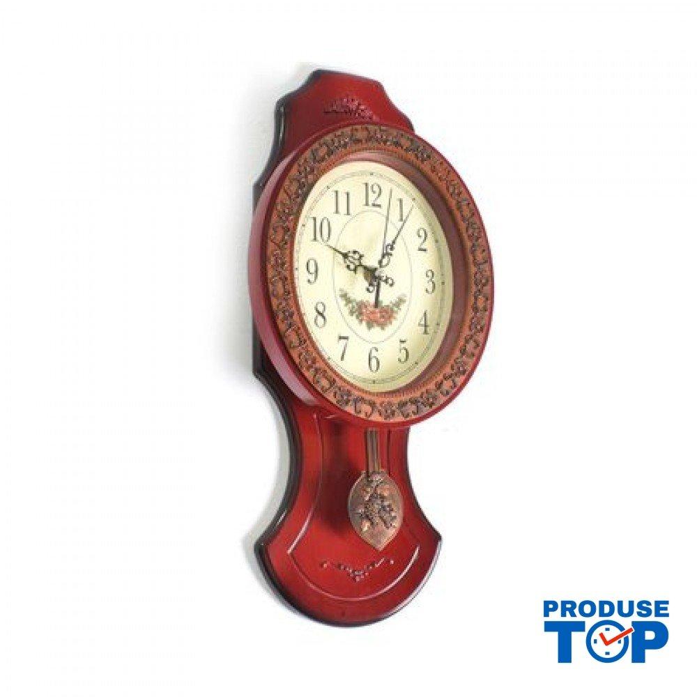 Ceas de  Perete Vintage cu Pendul Grena hdcp002-red
