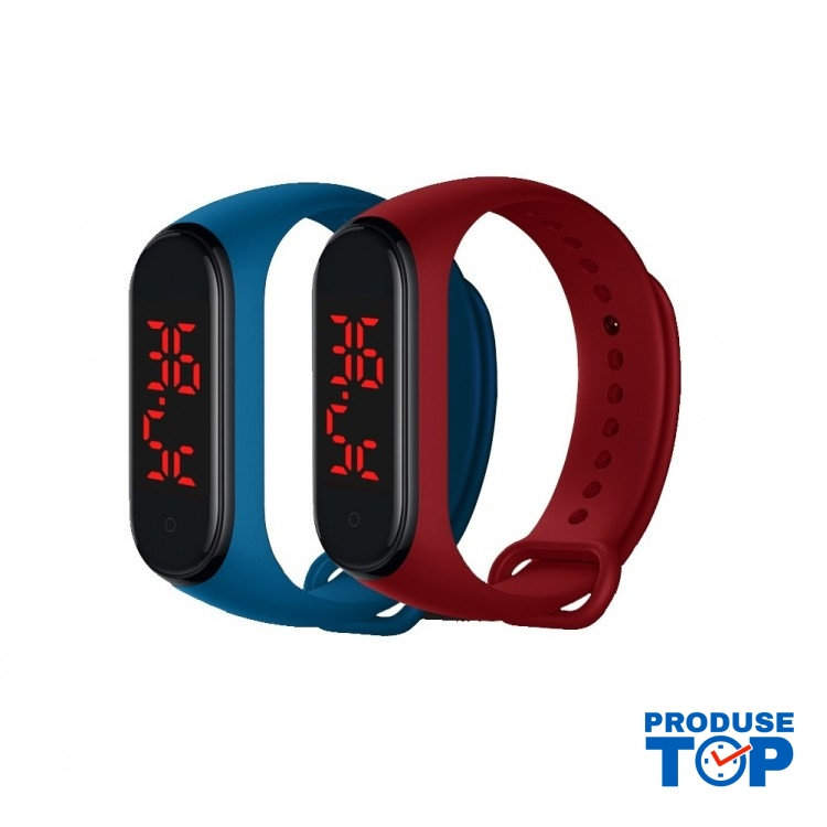 Ceas Bratara Smart Sport Rosu cu termometru SBT01