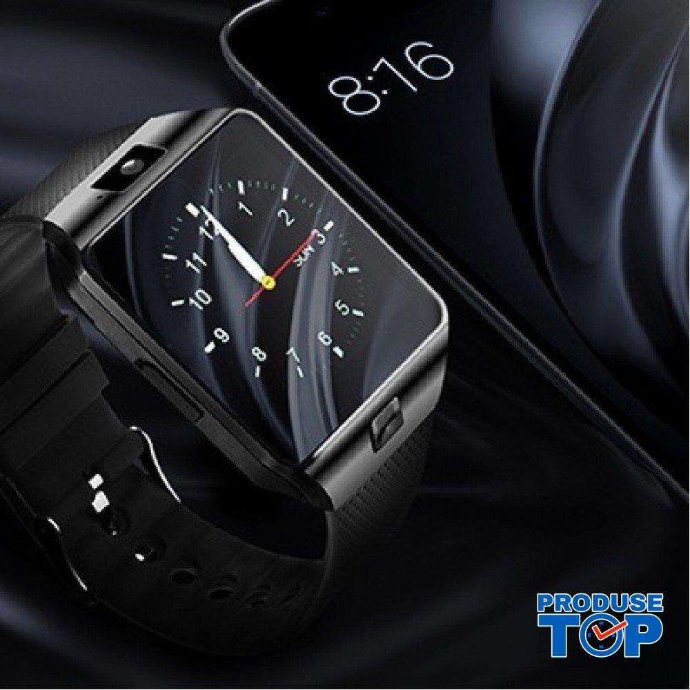 Ceas Smartwatch Negru cu camera incorporata Karen SWDZ09