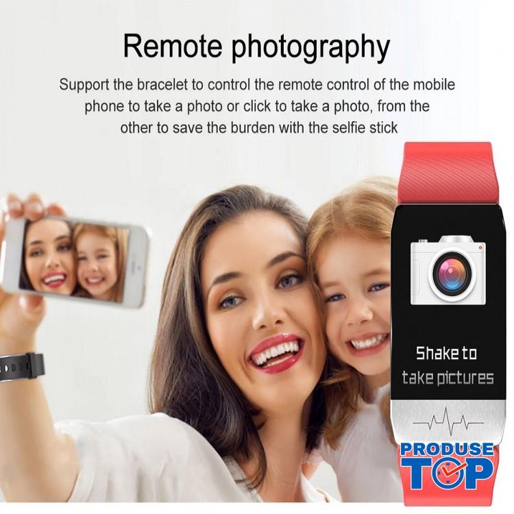 Ceas Smartwatch Touch Screen Albastru cu bluetooth/termometru Karen SWT1S