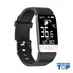 Ceas Smartwatch Touch Screen Negru cu bluetooth/termometru Karen SWT1S