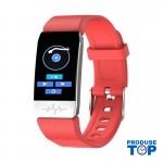 Ceas Smartwatch Touch Screen Rosu cu bluetooth/termometru Karen SWT1S