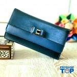 Portofel tip clutch dama albastru cu catarama fundita ACPT013