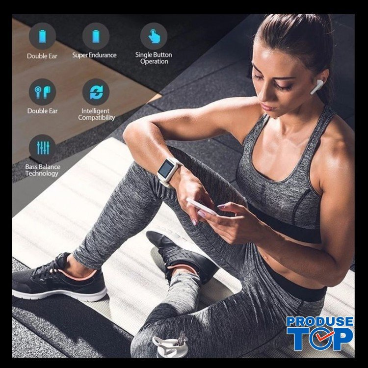 Casti Bluetooth Negre Produse.top ACB001