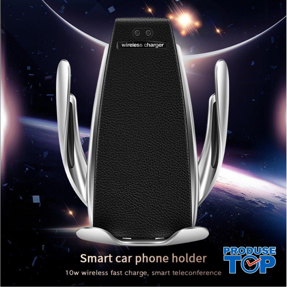 Suport auto cu incarcator wireless si senzor inteligent ACWC-AUTO-002