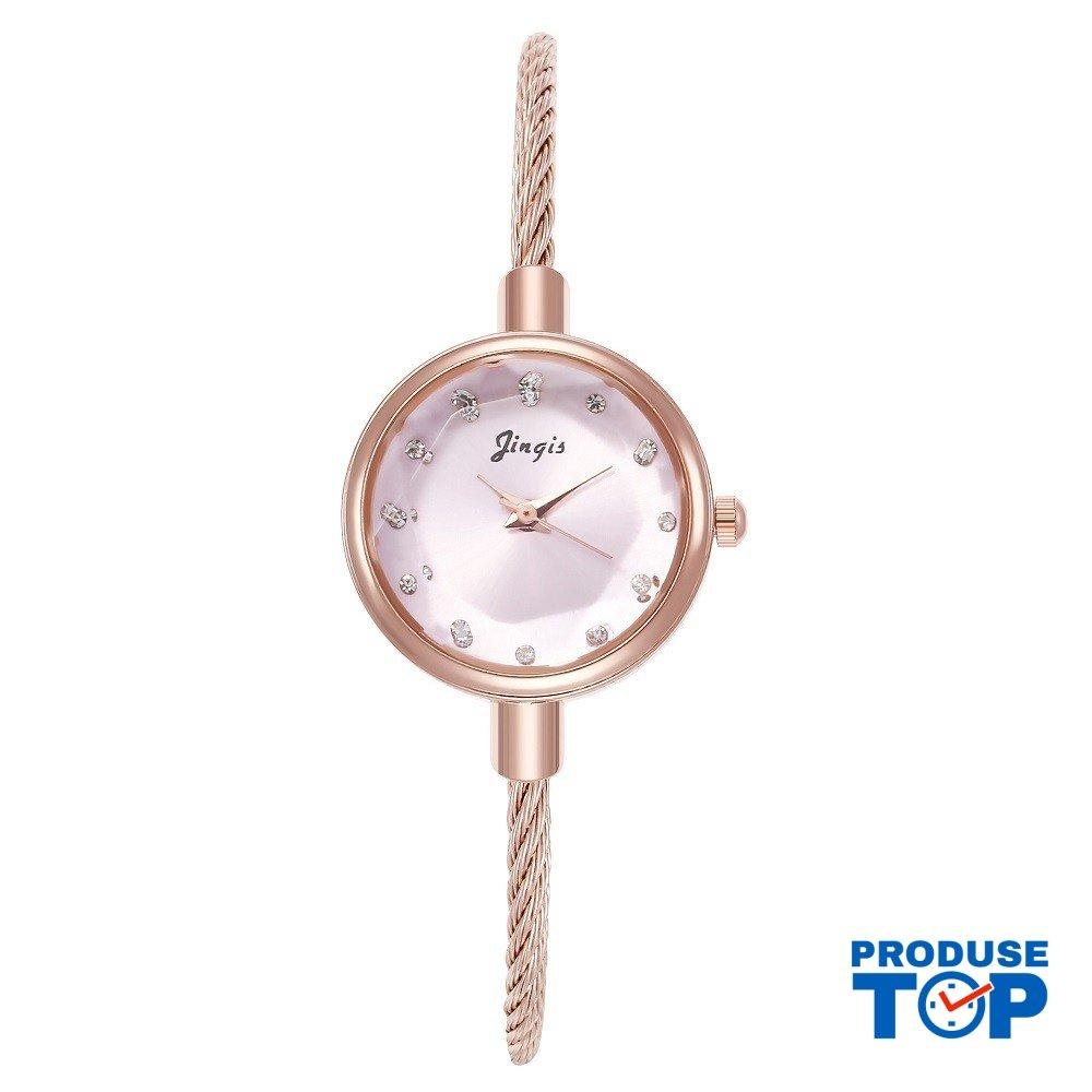Ceas Dama Clasic Pink tip Bratara cu cadran sidefat CDQZ027