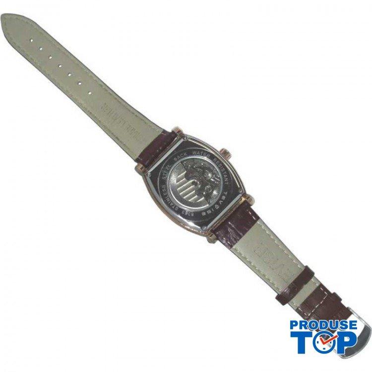 Ceas Barbatesc Premium Automatic Moonphase Legend Elegant Business RoseGold cu bratara din Piele Tevise CBTV004 - Tourbillon