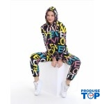 Trening Dama  fashion cu hanorac si pantaloni cu imprimeu love TND04