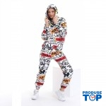 Trening Dama  fashion cu hanorac si pantaloni cu imprimeu true TND04