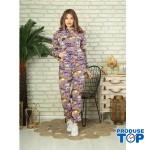 Trening Dama fashion cu hanorac si pantaloni cu imprimeu inspire TND04