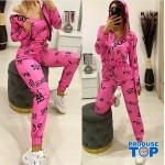Trening Dama Fashion roz din trei piese TND07